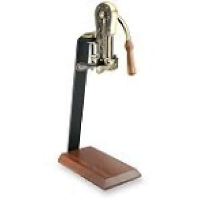 Rogar Estate Wine Opener- Antique Bronze w Hardwood Stand