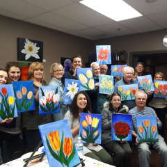 Paint and Wine: April 2018